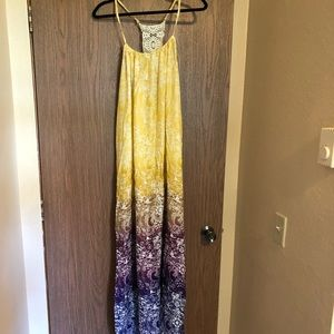 NWT Forever 21 colorful maxi dress